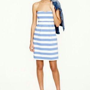 NWT J. Crew striped strapless dress!